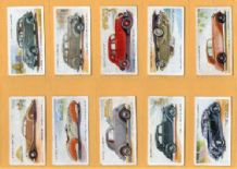Tobacco cards Cigarette cards Motor Cars set 1937